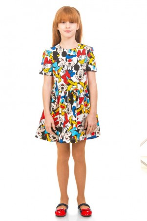 Kids Couture: Платье 16-17-1 бел. Микимаус. 1617101103 - главное фото