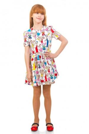 Kids Couture: Платье 16-17-1 бел.кошки 1617101108 - главное фото