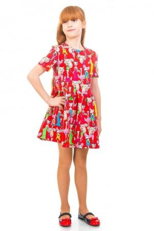 Kids Couture: Платье 16-17-1 красн.кошки 1617110105 - главное фото