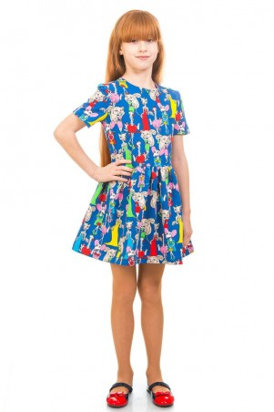 Kids Couture: Платье 16-17-1электрик.кошки 1617133107 - главное фото