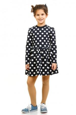 Kids Couture: Платье синее д/р белый горох 16-07 7116171157 - главное фото