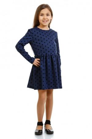 Kids Couture: Платье д/р синее в черный горох 16-07 7116171159 - главное фото