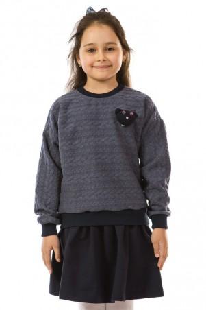 Kids Couture: Кофта 17-206 мишка синий 71172061121 - главное фото