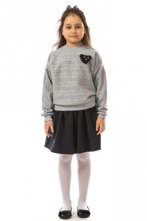 Kids Couture: Кофта косички серый мишка 17-206 71172061523 - главное фото