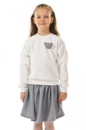 Kids Couture: Кофта косички молочный мишка 17-206 71172061622 - главное фото
