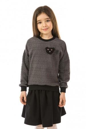 Kids Couture: Кофта с мишкой графит 71172063020 - главное фото