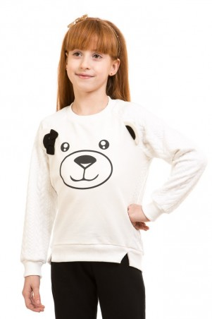 Kids Couture: Кофта мишка с бантиком 71172151652 - главное фото