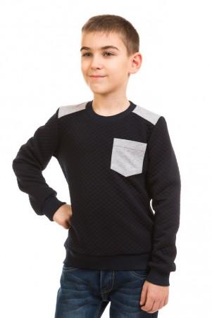 Kids Couture: Кофта 17-225 серый карман 71172251145 - главное фото