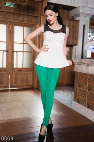 ISSA PLUS: Стильные зеленые леггинсы с задними кармашками 009_зеленый - главное фото