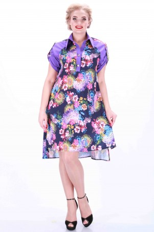 Alpama: Платье фиолетовое SO-13011-LIL - главное фото