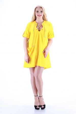Alpama: Платье желтое SO-13013-YLW - главное фото