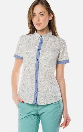 MR520 Women: Рубашка с принтом MR 223 2150 0216 White - главное фото