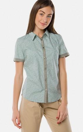 MR520 Women: Рубашка с принтом MR 223 2150 0216 Mint - главное фото