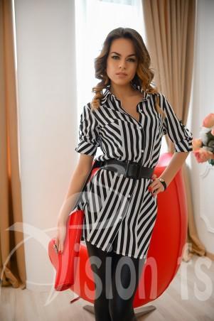 Vision FS: Стильное платье – рубашка в полоску «Дайна» 16505 - главное фото