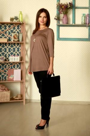 Nowa Ty: Блуза Жемчужина беж (кулон в комплекте) 15020302 - главное фото