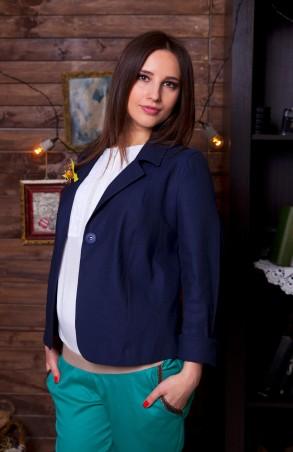 Nowa Ty: Пиджак Синий лен 15010501 - главное фото