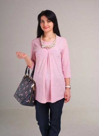 Nowa Ty: Блуза В розовом свете (ожерелье в комплекте) 16010301 - главное фото