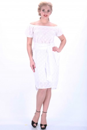 Alpama: Платье белое SO-13033-BUL SO-13033-BUL - главное фото