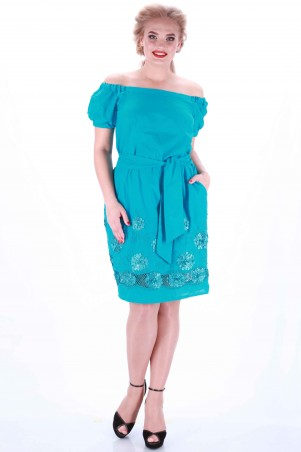 Alpama: Платье голубое SO-13032-BLU SO-13032-BLU - главное фото