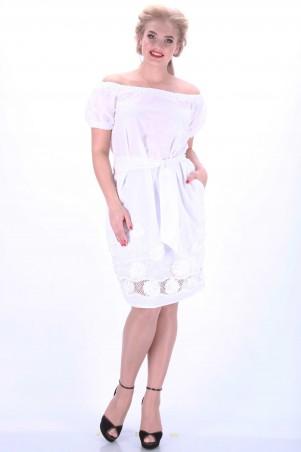 Alpama: Платье белое SO-13032-WHT SO-13032-WHT - главное фото