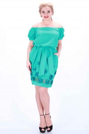 Alpama: Платье бирюза SO-13032-TRQ SO-13032-TRQ - главное фото