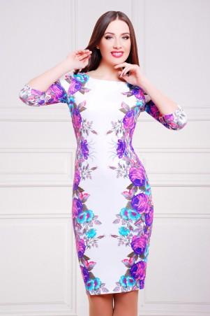 Glem: Платье Фиолетовые розы  Лоя-1 д/р - главное фото