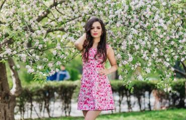 Champagne Sparkles: Платье розовые-цветы 16203 - главное фото
