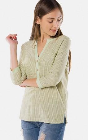 MR520 Women: Рубашка в полоску MR 223 2149 0216 Yellow Green - главное фото