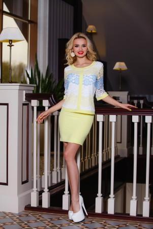 Jadone Fashion: Костюм (юбка+блуза) Лоретти М-4 - главное фото