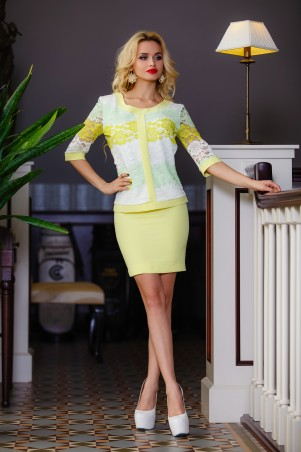 Jadone Fashion: Костюм (юбка+блуза) Лоретти М-3 - главное фото