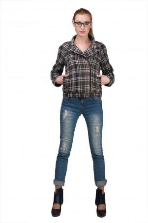 Lilo: Короткая куртка-жакет в клетку 02034 - главное фото