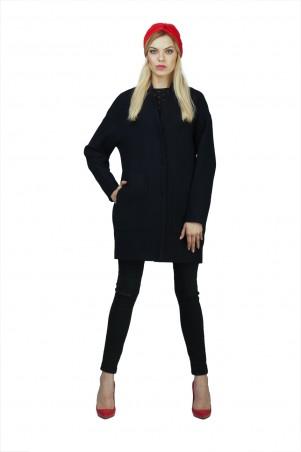 Lilo: Темно-синее пальто со спущенным рукавом 02031 - главное фото