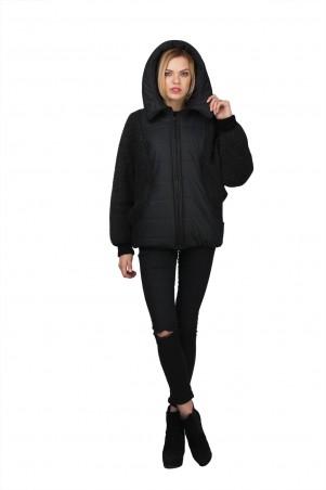 Lilo: Короткая черная куртка с шерстяными рукавами «летучья мышь» 02024 - главное фото