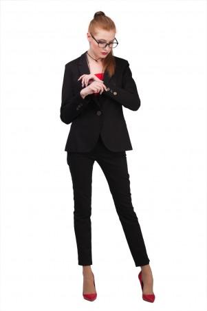Lilo: Черный пиджак на одну пуговицу 01959 - главное фото