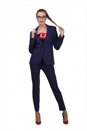 Lilo: Темно-синий пиджак из льна 01947 - главное фото