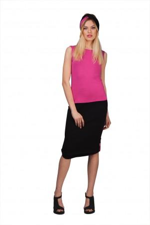Lilo: Розово-черная двухсторонняя юбка из трикотажа 1916 - главное фото