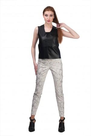 Lilo: Укороченные принтованные брюки 02004 - главное фото