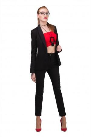 Lilo: Черные брюки с разрезами по бокам 01962 - главное фото