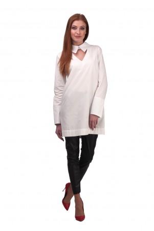 Lilo: Белая рубашка-туника с вырезом и пуговицами на спине 01940 - главное фото