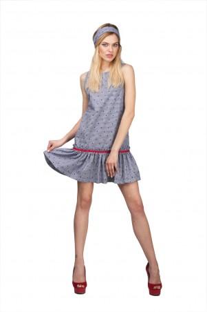 Lilo: Короткое платье в клетку с рюшей 02001 - главное фото