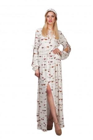 Lilo: Длинное струящееся платье в бабочки 01928 - главное фото