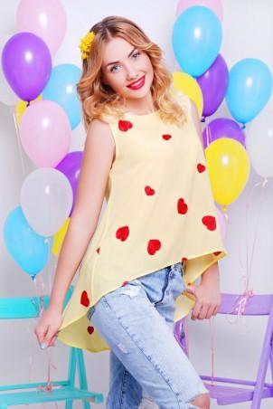 """FashionUp: Блуза """"Асимметрия"""" BZ-1327A - главное фото"""