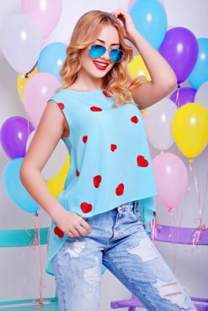 """FashionUp: Блуза """"Асимметрия"""" BZ-1327B - главное фото"""