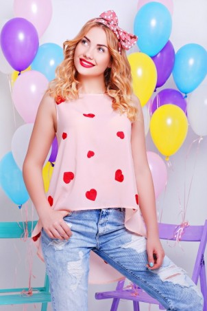 """FashionUp: Блуза """"Асимметрия"""" BZ-1327C - главное фото"""