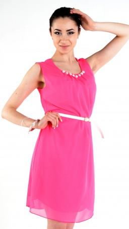"""TessDress: Шифоновое платье """"Муза"""" розовый 1083 - главное фото"""