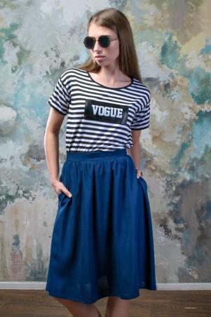 """TessDress: Стильная футболка в полоску """"Vogue"""" 5042old - главное фото"""