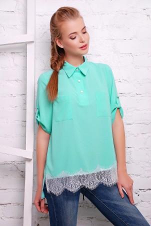 Zefir: Рубашка с французским кружевом Love - главное фото