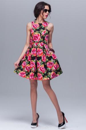 Jet: Платье Амели сатин Розита черная 1092-3038 - главное фото