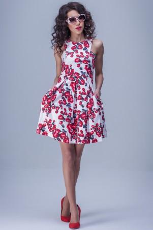 Jet: Платье АМЕЛИ сатин Бутон,белый 1092-4050 - главное фото