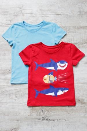 YaSan: Набор футболок (голубая + красная ) Акулы 616051601 - главное фото